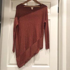 Sparkle blouse/sweater(rust color) size 1 Chico